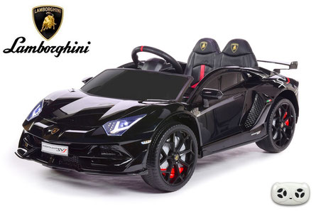 Lamborghini/Aventador SV/Kinderauto/Kinder Elektroauto/lizensiert/schwarz lackiert/