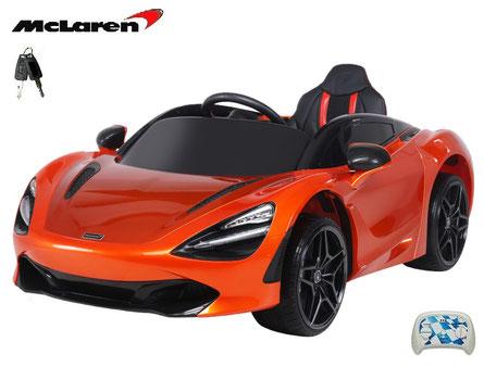 McLaren/2019/4x45W/Kinderauto/Kinder Elektroauto/lizensiert/orange lackiert/