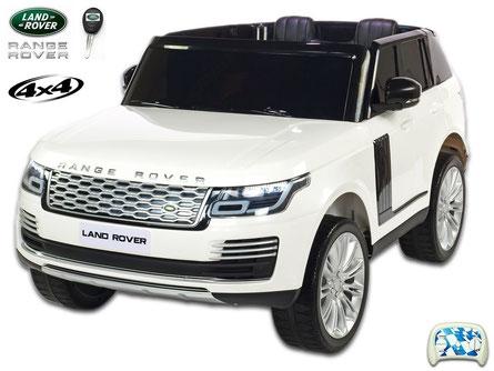 Land Rover/Range Rover/2 Sitzer/Kinderauto/Kinder Elektroauto/Kinder Auto/lizensiert/weiß lackiert/