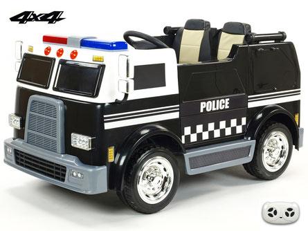 Polizei/Geländewagen/Kinderauto/Kinder Elektroauto/KidCars/Fernbedienung/rot/