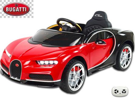 Bugatti/Chiron/Kinderauto/Kinder Elektroauto/lizensiert/rot schwarz lackiert/Fernbedienung/