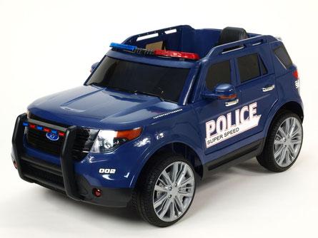 Polizei/Geländewagen/Kinderauto/Kinder Elektroauto/KidCars/Fernbedienung/blau/