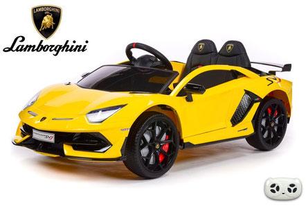 Lamborghini/Aventador SV/Kinderauto/Kinder Elektroauto/lizensiert/gelb lackiert/