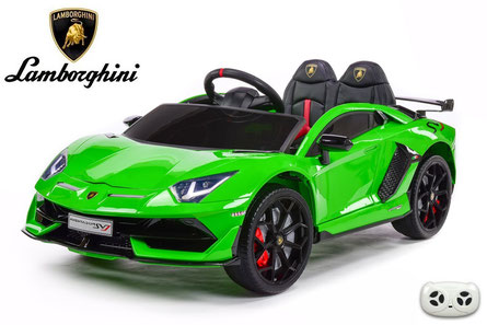 Lamborghini/Aventador SV/Kinderauto/Kinder Elektroauto/lizensiert/grün lackiert/
