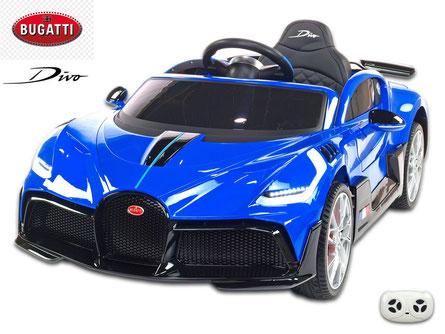 Bugatti/Divo/Kinderauto/Kinder Elektroauto/lizensiert/blau lackiert/Fernbedienung/