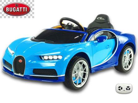 Bugatti/Chiron/Kinderauto/Kinder Elektroauto/lizensiert/blau/Fernbedienung/
