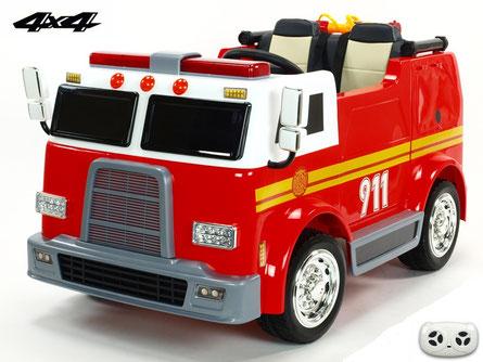 Feuerwehr/Kinder Feuerwehr/Fire Truck/ Kinderauto/Kinder Elektroauto/2 Sitzer/Allrad/