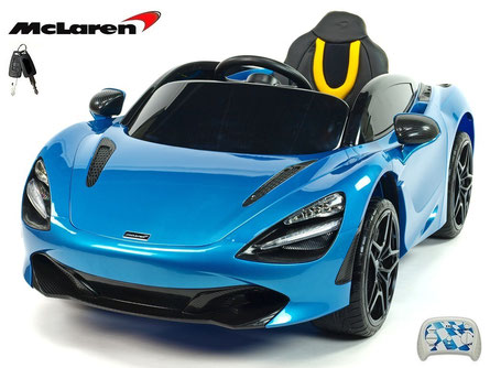 McLaren/2019/4x45W/Kinderauto/Kinder Elektroauto/lizensiert/blau lackiert/