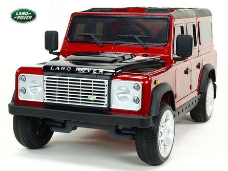 Land Rover/Defender/Kinderauto/Kinder Elektroauto/Kinder Auto/lizensiert/weinrot lackiert/