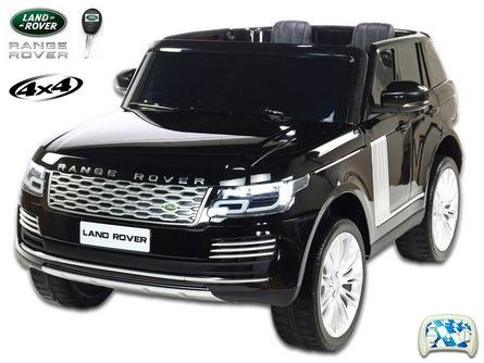 Land Rover/Range Rover/2 Sitzer/Kinderauto/Kinder Elektroauto/Kinder Auto/lizensiert/schwarz lackiert/
