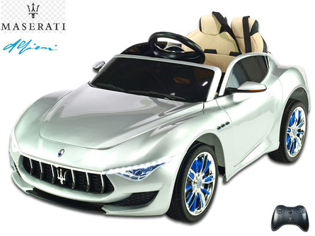 Maseratie Alfieri/Kinderauto/Kinder Elektroauto/lizensiert/silber lackiert/