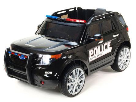 Polizei/Geländewagen/Kinderauto/Kinder Elektroauto/KidCars/Fernbedienung/schwarz/