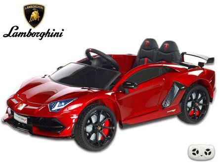Lamborghini/Aventador SV/Kinderauto/Kinder Elektroauto/lizensiert/weinrot lackiert/