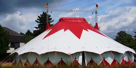 Circuszelt am Katharina von Bora Haus