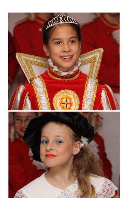 Freuen sich auf die Session: Prinzessin Mara I. (oben) und Pagin Lara