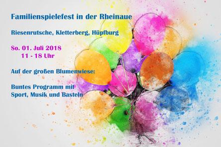 Familienspielefest In Der Rheinaue Das Portal Fur Roettgen Und