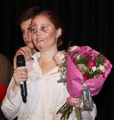 Anna Schramm: Sie schrieb das Drama, führte Regie und spielte die Rolle des Juden