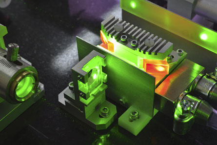 Cooling of a green laser diode module