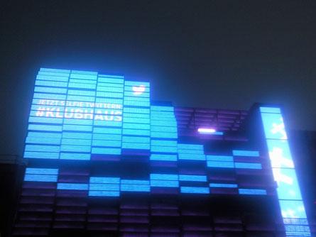 Klubhaus St. Pauli - Animationen an der Medienfassade