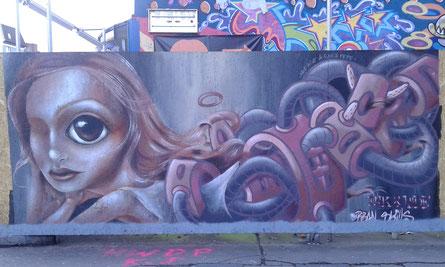 Graffiti - Hein-Hoyer-Straße / Reeperbahn Hamburg St. Pauli