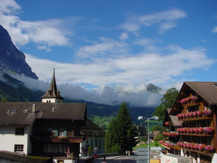 Aussicht, Balkon, Grindelwald, Kirche