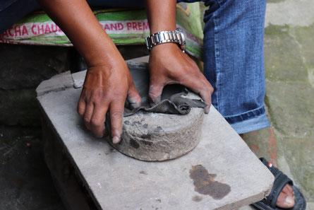 Masken Herstellung Bhaktapur