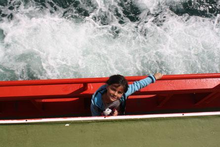 Bootstour Gletscher Serrano, Puerto Natales, Chile, Patagonien mit Kind