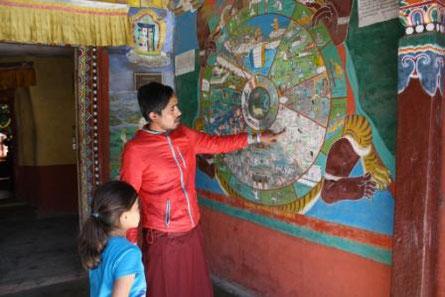 Mit Kind in Nepal
