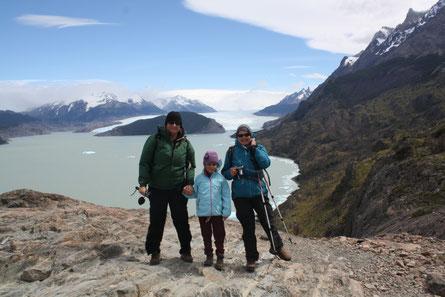 Am Gletscher sind wir fast weggeweht worden...
