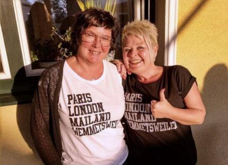 Nach Stammzellspende verbunden: Tanja Raubuch (links) und Petra Brandt (rechts) kämpften gemeinsam gegen Brandts tödliche Bluterkrankung. Foto: Tanja Raubuch