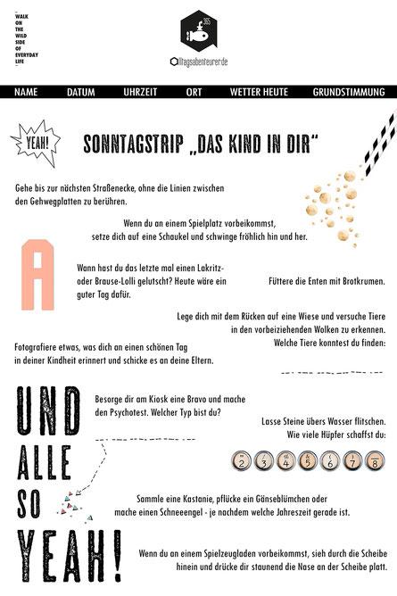 Sonntagstrip Freizeit Freizeitaktivität Sonntag Hamburg ausdrucken Freebie Gimmick Machs fertig Alltagsabenteuer Alltagsabenteurer Outdoor