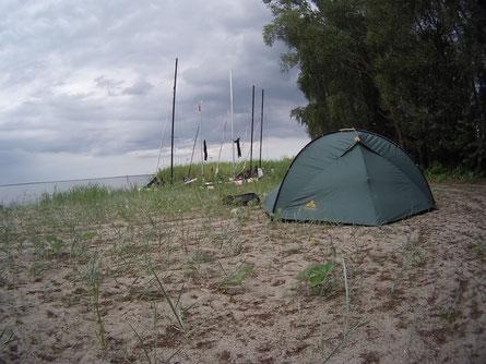 Am Strand von Kamminke