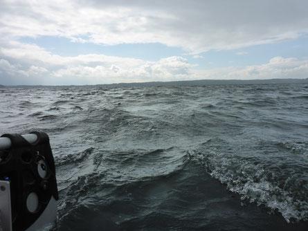 Wellen lassen sich immer schlecht fotografieren