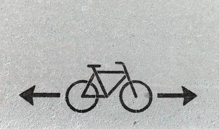 Kennzeichnung Radweg