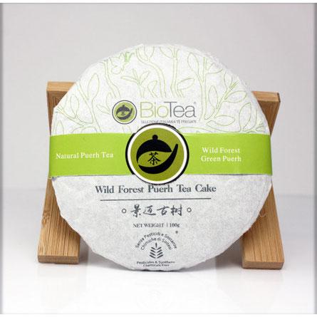 Tè Puerh in Foglia Wild Forest Green Cake