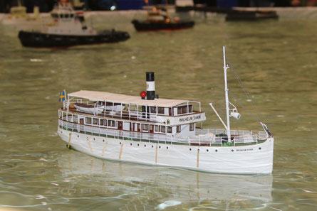 In Neumünster, war das Modell das erste mal auf dem Wasser.