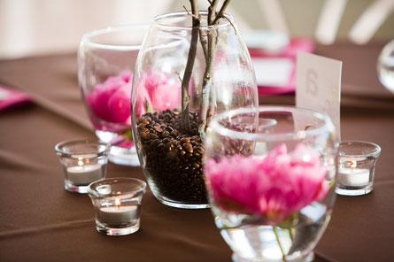 decoracion ramas y granos de café