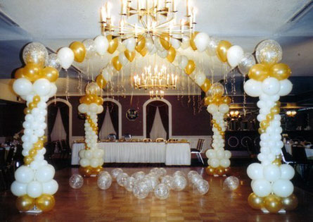 decoracion con globos boda civil