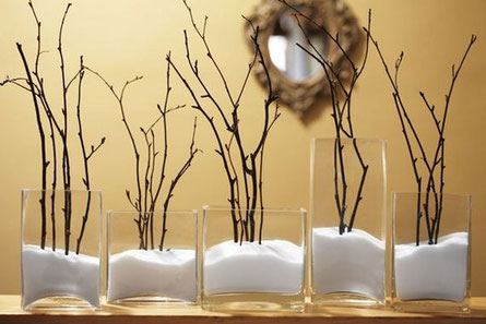 decoración de ramas para interiores