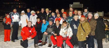 Gruppenfoto der Teilnehmer an der Skifreizeit nach Garmisch-Partenkirchen 2016