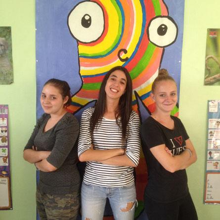 Amélie, Islam et Juliette les 3 volontaires dans la Somme