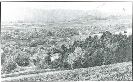 Landschaftsbild Unterlungitz 1904