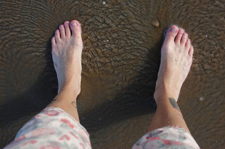 Barefoot in the North Sea, North Sea wintertime, travelblog