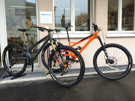 Testbikes Orange Stage 6 in Medium und Large