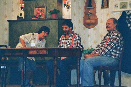 """Theater Weihnachten 2006 """"Der bayerische Protectulus"""",  u. a. mit Alwine Hirschmann, Hans-Jürgen Sommer und Rudi Hahn als Schutzengel"""