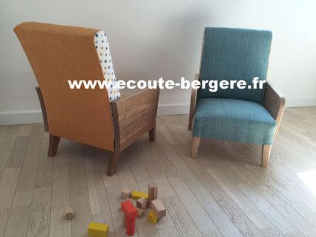 Mobilier et accessoires deco d'inspiration scandinave: fauteuils, fanions, doudous étoile et lune en vente.