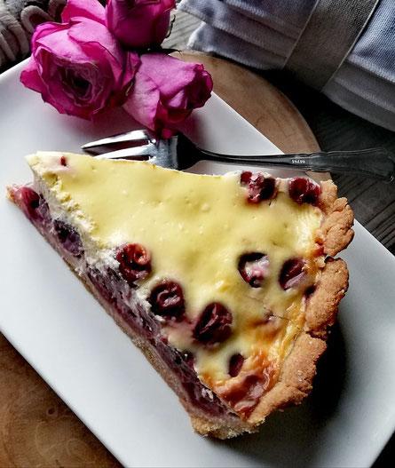 Sauerkirschen - Dinkelmürbeteig - Kuchen