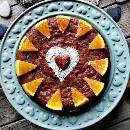Schoko-Orangen- Kuchen