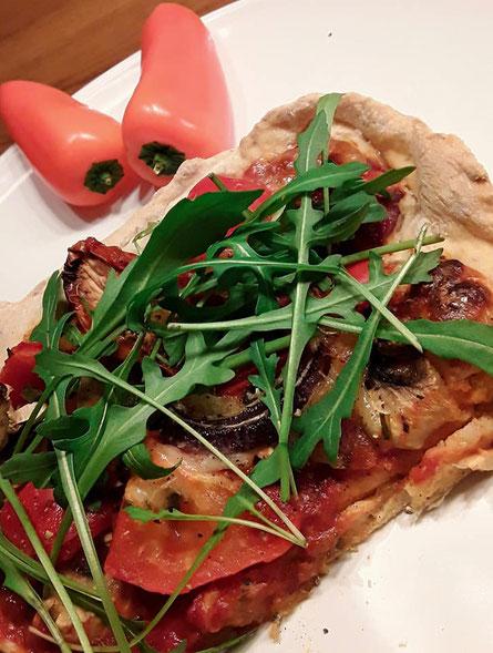 Pizza mit Urdinkelteig