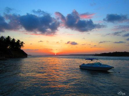 Sonnenuntergang in Tibau do Sul / Brasilien